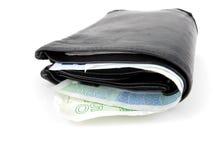 Pochette avec de l'argent norvégien photographie stock