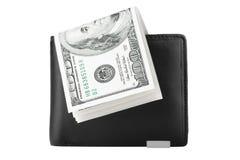Pochette avec des dollars Image libre de droits
