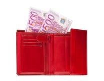 Pochette avec des euro Photos libres de droits