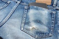 Pochette dans la poche de treillis Photos libres de droits