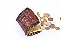 pochette de poli d'extérieur de pièces de monnaie petite Image stock