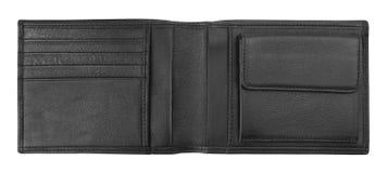 Pochette en cuir noire Photo stock
