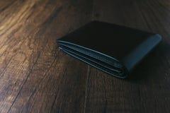Pochette en cuir noire Photo libre de droits