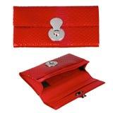Pochette en cuir rouge photographie stock