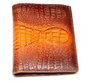 Pochette faite de cuir véritable de crocodile Image libre de droits