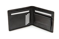 pochette noire de cartes de visite professionnelle de visite Images stock