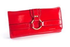 Pochette rouge 2 de femme Photographie stock