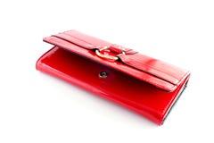 Pochette rouge de femme Photographie stock