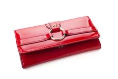 Pochette rouge de femme Image stock