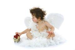 Pochi angelo e casa Immagini Stock Libere da Diritti