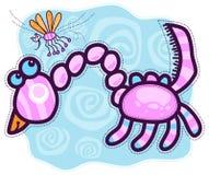 Pochi drago e zanzara rosa Fotografie Stock