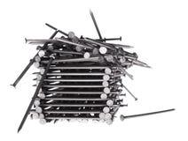 Pochi rivestono di ferro i chiodi Fotografia Stock Libera da Diritti