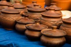 Pochi vasi di argilla Immagine Stock