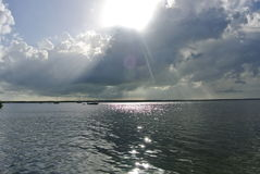 pochmurno dzień na plaży Fotografia Royalty Free