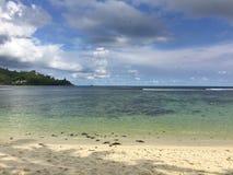 pochmurno dzień na plaży Obraz Royalty Free