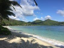pochmurno dzień na plaży Obrazy Royalty Free