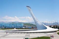 Pochodnia w Olimpijskim parku Sochi obraz stock