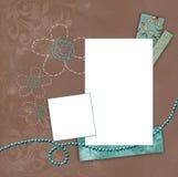 pochodzenie kawy ramy niebieskozielony Obrazy Stock