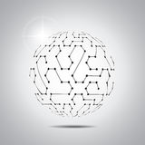 pochodzenie wektora abstrakcyjne Futurystyczny technologia styl Elegancki tło dla biznesowych technik prezentacj Obrazy Stock