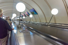 Pochodzić w stację metru Obrazy Royalty Free