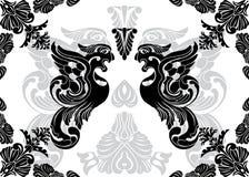 Pochoir de Phoenix et cadre décoratif Photographie stock libre de droits