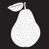 Pochoir de poire avec la feuille illustration de vecteur