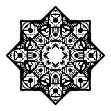 Pochoir Mandala Design Illustration Stock