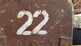 pochoir 22 peint images libres de droits