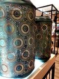 Pochoir sur le vase vert photo stock