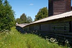 Pochozersky graveyard. Ancient wooden church Pochozersky graveyard . village  . Arkhangelsk region, Russia Stock Photos