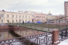 Pochtamtsky bridge across the river Moyka. Saint Petersburg Royalty Free Stock Images