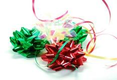 pochyl świątecznych wstążki Zdjęcie Stock