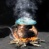 Poción mágica azul Foto de archivo libre de regalías