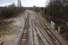 Pociągów ślada Zdjęcia Stock