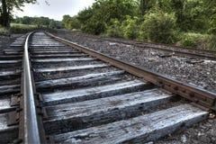 Pociągów ślada i porzucający taborowy samochód Zdjęcia Stock