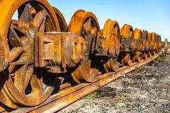 Pociągów koła Zdjęcie Stock
