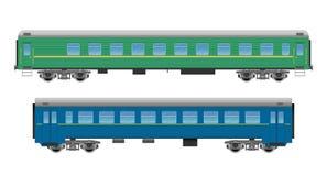 Pociągów pasażerskich samochody ustawiający Obraz Stock