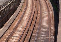 Pociągów poręcze Obraz Stock