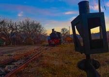 Pociąg i dźwignia obrazy stock
