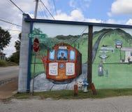 Pociąg i dyrygent Maluje Jackson, Tennessee zdjęcie stock