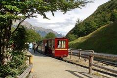 Pociąg końcówka świat w Tierra Del Fuego parku narodowym Obrazy Royalty Free