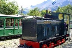 Pociąg końcówka świat w Tierra Del Fuego parku narodowym Obrazy Stock