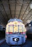 Pociąg na pokazie przy zjednoczenie stacją Zdjęcia Royalty Free