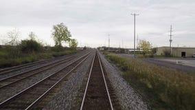 Pociąg Odjeżdża Bawolią Depew stację zbiory wideo