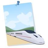 Pociąg pasażerski przychodzi z plakata Fotografia Stock