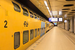 Pociąg pasażerski w Amsterdam Obraz Royalty Free