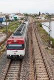 Pociąg pasażerski w Hiszpania Obrazy Royalty Free