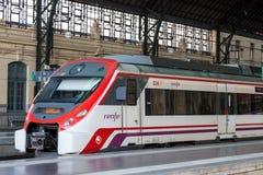 Pociąg Pasażerski w Walencja Obraz Royalty Free