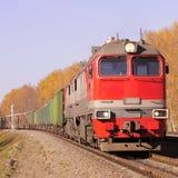 Pociąg towarowy. Zdjęcie Stock