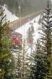 Pociąg Towarowy Podczas miecielicy fotografia royalty free